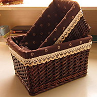 Storage Boxes Wicker withFeature is Open , For Jewelry Underwear Shopping