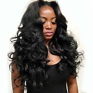 100% d'une base de vague de corps brésilien soie de cheveux humains vierge 13x4 dentelle 3d fermeture frontale naturelle des cheveux noirs