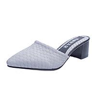 Dame Sandaler Komfort PU Vår Sommer Avslappet Formell Komfort Tykk hæl Blokker hælen Hvit Svart Grå Fuksia 2,5 - 4,5 cm