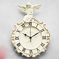 מודרני / עכשווי מסורתי רטרו משרד / עסקים חתונה משפחה שעון קיר,עגול פולי שרף בבית שָׁעוֹן