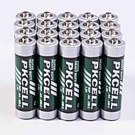 pkcell R03P aa bateria de zinco-carbono 1.5v 20 pacote dever super-heavey