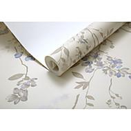 Floral Árvores/Folhas Papel de Parede Para Casa Regional Revestimento de paredes , Não-tecido de papel Material adesivo necessáriopapel