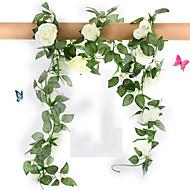 "78 ""l conjunto de 16 flores rosa flor de pano rattan flores de seda"