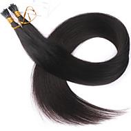 14 16 18 20 22 24 26 100g de cabelo ponta plana prego ponta extensões de cabelo extensões cor natural remy brasileiro do cabelo humano de
