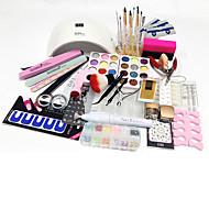 Sun 9s Led Lamp 77Pcs Sets  Manicure Tools  Powder Printing Plate Carve Patterns Suits Pen Type Dry Grinding Machine