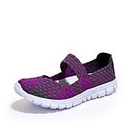 Dame-Kustomiserte materialer-Flat hæl-Komfort Lette såler-一脚蹬鞋、懒人鞋-Friluft Fritid-Lilla Rød Grå Oransje