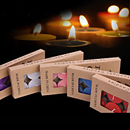 10Pcs Candles Holiday Wedding Modern/Contemporary Candles Romantic Home Decoration      Can Burn For Three Hours