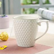 ミニマリズム コップ, 350 ml 断熱 単純な幾何学的パターン セラミック 茶色 ヌード ティーカップ