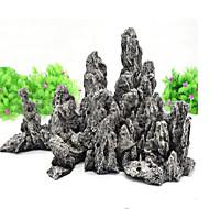 קישוט אקווריום אבנים אינו רעיל וחסר טעם שרף אפור