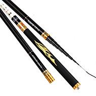 Fishing Rod Telespin Rod Carbon steel 450 M General Fishing Rod Black White