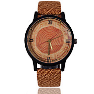 Men's Women's Unisex Sport Watch Dress Watch Fashion Watch Wrist watch Wood Watch Quartz / Leather BandVintage Stripe Camouflage Charm