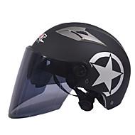 ロングティーミラーレンズと55〜61センチメートルに適したGXT M11オートバイハーフヘルメットデュアルレンズハーレー日焼け止めヘルメット夏ユニセックス