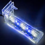 אקווריומים קישוט אקווריום לבן כחול אינו רעיל וחסר טעם מנורת לד 220V