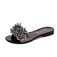 Kényelmes-Lapos-Női cipő-Papucs és papucs-Ruha Alkalmi-PU-Fekete Pezsgőszín
