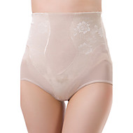 Women's Maternity Postpartum Slimming Corset Jacquard High Waist Elasticity Nylon Beige Shaping Panties