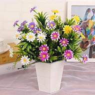 1 ענף פלסטיק חינניות פרחים לשולחן פרחים מלאכותיים 25*25*30