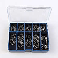 Fishing Hooks Fishing-100 pcs  Silver / barbed / Ionic / Izu ordinary hook