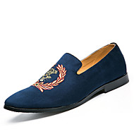 Men's Loafers & Slip-Ons Spring Summer Fall Comfort Ambroidered Light Soles Suede Outdoor Casual Low Heel  Walking Shoes