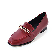 Women's Sneakers Spring Summer Fall Winter PU Outdoor Dress Casual Low Heel Chunky Heel Chain White Black Red