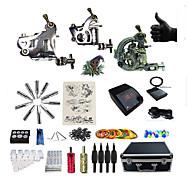 Kompletan Tattoo Kit 2 x čelične tetovaža stroj za obloge i sjenčanje 3 Tattoo Machines LED napajanja Tinte dostavljaju odvojeno