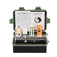 Iluminação Lanternas LED Kits de Lanternas LED 2000 Lumens 3 Modo Cree XM-L T6 18650.0 AAA 26650 Foco Ajustável RecarregávelCampismo /