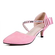 Women's Sandals Spring Summer Fall Comfort Light Soles Club Shoes Suede Office & Career Dress Party & Evening Kitten HeelRhinestone