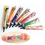 Barva golecha henna pasty tetování kit body art dočasné inkoustu Jagua černé Hina kutilství Hena (14pcs)