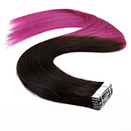 neitsi 20 '' 20szt 50g ombre wątkową skóry prostą taśmę w ludzkich włosów rozszerzeniach jakości klasy 5a T1B / fioletowy #
