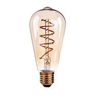 4W B22 E26/E27 Izzószálas LED lámpák ST64 1 COB 400 lm Meleg fehér Állítható AC 220-240 AC 110-130 V 1 db.