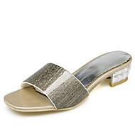 Damen-Sandalen-Kleid Lässig-Glanz maßgeschneiderte Werkstoffe-Blockabsatz-Komfort Club-Schuhe-Gold Silber Rosa