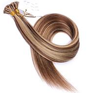 kaunis Brasilian ihmisen hiusten pidennykset 1g / lohkon u torjuen hiusten pidennykset lisävärilaitteiden # 6 / # 27 kynsien kärki