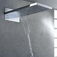 Contemporâneo Chuveiro Tipo Chuva Cromado Característica for  Efeito Chuva , Lavar a cabeça
