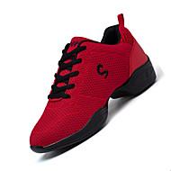 Sapatos de Dança(Preto Vermelho Branco) -Feminino-Não Personalizável-Tênis de Dança