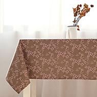 Square Floral Table Cloth , Linen / Cotton Blend Material Table Decoration 1/set