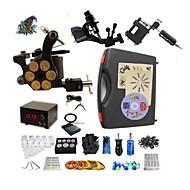 Kompletan Tattoo Kit 2 x rotacijski tetovaža stroj za obloge i sjenčanje 1 x aluminijski tetovaža stroj za obloge i sjenčanje 3Tattoo