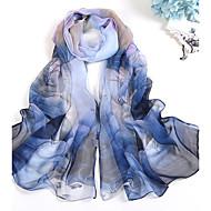 Mignon Soirée Décontracté Mousseline de soie Femme Écharpe,Imprimé Rectangle,Bleu Rose