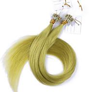 10a meilleures extensions de cheveux cheveux de qualité de l'anneau micro boucle cheveux crépus vierge droite 100g enchevêtrement