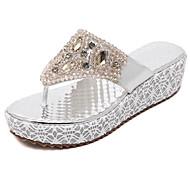 Damen-Sandalen-Kleid Lässig-PU-Keilabsatz-Andere-Gold Silber