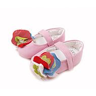 Lapset Vauvat Tasapohjakengät Ensikengät Crib Shoes Kangas Kevät Kesä Syksy Kausaliteetti Puku Ensikengät Crib Shoes Keltainen Pinkki