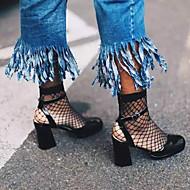 mulheres meias meias rede de pesca oco socks malha de peixe malha meias curtas
