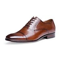 Homme-Bureau & Travail Décontracté Soirée & Evénement-Noir Marron-Talon Bas-chaussures Bullock-Oxfords-Cuir