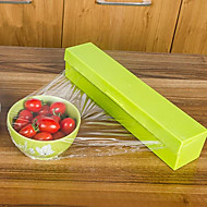 1Pcs  Hot Sale Stainless Steel Blade Preservative Plastic Wrap Dispenser Cling Film Cutter Holder Cutting Box Home Kitchen Dining Bar  Random Color