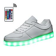 靴を点灯ユニセックスランニングシューズリモコンを主導したスニーカーの靴を点灯主導合成カジュアルレースアップ黒、白を導きました