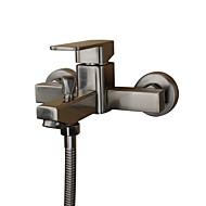 近代の バスタブとシャワー ワイドspary with  セラミックバルブ シングルハンドル二つの穴 for  ステンレス , 浴槽用水栓