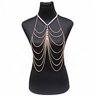 Dámské Tělové ozdoby Tělo Chain / Belly Chain příroda Módní Bohemia Style Perly Slitina Zlatá Šperky Pro Zvláštní příležitosti Ležérní 1ks