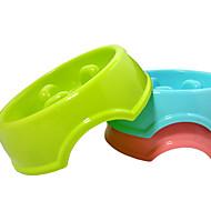 Katze Hund Schalen & Wasser Flaschen Futter-Vorrichtungen Haustiere Schüsseln & Füttern Tragbar Rot Grün Blau