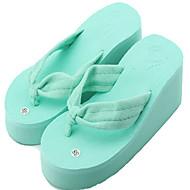 Pantofle a Žabky-Len-Creepers lehké Soles-Dámské-Bílá Černá Fialová Námořnická modř Červená-Outdoor Běžné-Klín