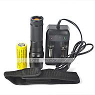 LT Lanternas LED LED 2000 Lumens 5 Modo Cree XM-L T6 18650.0 26650Prova-de-Água Recarregável Resistente ao Impacto Bisel de Golpe Tático