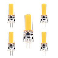 3W G4 Двухштырьковые LED лампы T 1 COB 200-300 lm Тёплый белый Холодный белый Регулируемая Декоративная AC 12 V 5 шт.