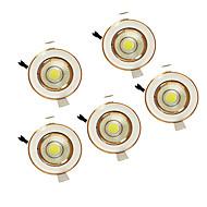5 wattů klas 220-240 teplá bílá vedl dolů světla zapuštěná stropní 5ks